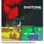اکشن فتوشاپ تغییر تناژ رنگی عکس Duotone Photoshop Action Bundle
