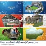 پروژه افتر افکت مسابقات فوتبال یورو European Football Opener