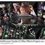 پروژه افتر افکت استودیو مولتی اسکرین MultiScreen Studio V2