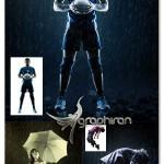 اکشن فتوشاپ ساخت افکت صحنه ی بارانی دراماتیک Rain Action