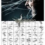 دانلود براش های فتوشاپ تار عنبکوت ترسناک Ron's Cobwebs