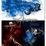 اکشن فتوشاپ ساخت دود در رنگ های مختلف Smoky Action