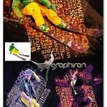 اکشن فتوشاپ افکت تابلوی نقاشی تایپوگرافی Tableau Action