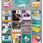 دانلود مجموعه ۲۵ طرح آگهی تبلیغاتی مشاغل مختلف PSD لایه باز