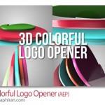 پروژه افتر افکت لوگوی ۳ بعدی رنگارنگ ۳D Colorful Logo Opener