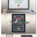 دانلود طرح لایه باز گواهینامه و مدرک تحصیلی Certificate Template