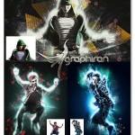 اکشن فتوشاپ افکت های نوری دی جی بر روی تصاویر DJ Action