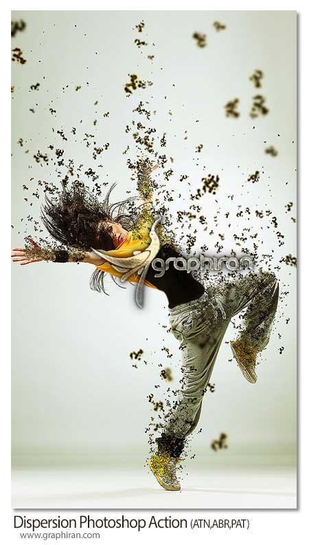 اکشن فتوشاپ پخش شدن ذرات روی عکس