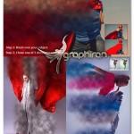 اکشن فتوشاپ ساخت افکت پخش شدن خاک Dust Photoshop Action