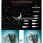 براش ایلوستریتور ذرات ریز جادویی Fairy Dust Sparkle Brushes