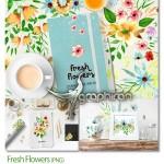 دانلود مجموعه تصاویر کلیپ آرت گل های تازه Fresh Flowers