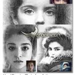 اکشن فتوشاپ افکت طراحی با قلم Hand Drawing Photoshop Action