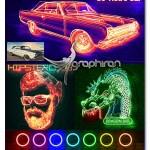 اکشن فتوشاپ نقاشی با نور نئون Neon Light Painting Photoshop Action