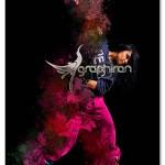 اکشن فتوشاپ پخش شدن رنگ نقاشی Painting Scatter Photoshop Action