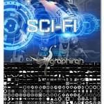 ۴۲۵ شیپ فتوشاپ شکل های فضایی Ron's Sci-Fi Custom Shapes Series 1