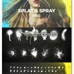 براش های حرفه ای فتوشاپ اسپری رنگ پاش Splat & Spray Pro Brushes