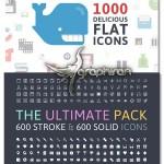 دانلود پک عظیم آیکون The Mega Icons Bundle with 4200+ Items