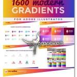 دانلود پک گرادیان ایلوستریتور Gradients Graphic Styles Bundle