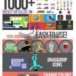 پک بیش از ۱۰۰۰ آیکون انیمیشن برای افتر افکت Animated Icons