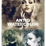اکشن افکت نقاشی آبرنگ آنتیک Antiq Watercolor Photoshop Action