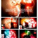 اکشن فتوشاپ افکن انفجار نور Burst Lighting Photoshop Action