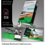 دانلود قالب بروشور طرح کریستالی Indesign Brochure Cristal