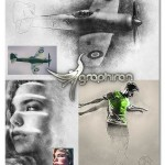 اکشن فتوشاپ Sketch Photoshop Action (With 3D Pop Out Effect)