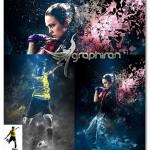اکشن فتوشاپ ترکیب افکت نوری و تکه تکه شدن Soul Photoshop Action