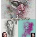 اکشن فتوشاپ افکت نقاشی با اسپری Spray Paint Photoshop Action