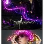 اکشن فتوشاپ افکت نورهای چشمک زن Twinkle Photoshop Action