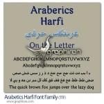 فونت عربی عربتکس حرفی Arabetics Harfi Font Family