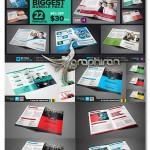 دانلود ۲۲ قالب آماده بروشور Bi-Fold Brochure Biggest Bundle