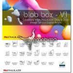 دانلود براش فتوشاپ مایع ۳ بعدی Blob Box V1 Hi-Res Brushes Set