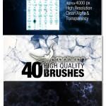 ۴۰ براش فتوشاپ شبکه های انتزاعی CG Plexus Brushes for Photoshop
