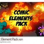 پروژه افتر افکت پک المان های کتاب های مصور Comic Element Pack