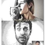 دانلود اکشن فتوشاپ افکت قلم زنی Etching Photoshop Action
