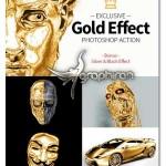 اکشن فتوشاپ طلایی کردن اجسام Gold Effect Photoshop Action