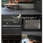 دانلود مدل ۳ بعدی آشپزخانه تری دی مکس Kitchen Poliform Varenna Phoenix