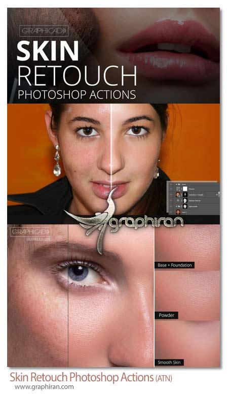 اکشن های تخصصی فتوشاپ روتوش پوست صورت