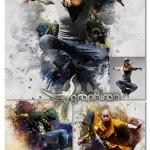 اکشن فتوشاپ افکت نقاشی با اثر قلمو Smudge Art Photoshop Action