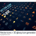 دانلود بیش از ۵۰۰ آیکون وکتور + ابزار ساخت آیکون ۳ بعدی شیشه ای