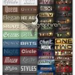 استایل های گرافیکی متنوع فتوشاپ Bundle Elegant Styles Vol 1.6