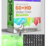 دانلود مجموعه بیش از ۶۰ براش آبرنگ Water Color Brushes Sets