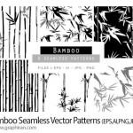 دانلود پترن های وکتور بامبو Bamboo Seamless Vector Patterns