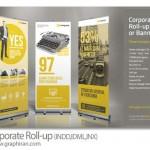 دانلود ۳ طرح آماده بنر استند تجاری و شرکتی Corporate Roll-up