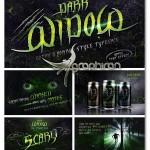 فونت و استایل های جادوگر سیاه Dark Widow + Bonus Text Effect