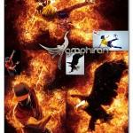 اکشن فتوشاپ زبانه های آتش زیبا Flames Photoshop Action
