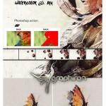 اکشن فتوشاپ ساخت افکت انیمیشن آبرنگ و جوهر به صورت GIF