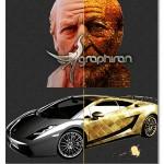 اکشن فتوشاپ افکت کاغذ طلایی Gold Paper Photoshop Action