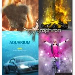 Illuminatum 4in1 Photoshop Actions Bundle پک اکشن های فتوشاپ